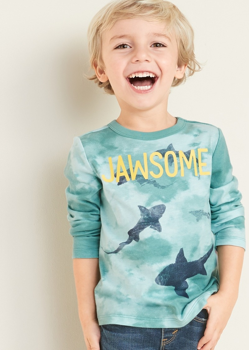 Old Navy Graphic Dip-Dye Long-Sleeve Tee for Toddler Boys