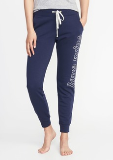 Old Navy Graphic French-Terry Joggers for Women