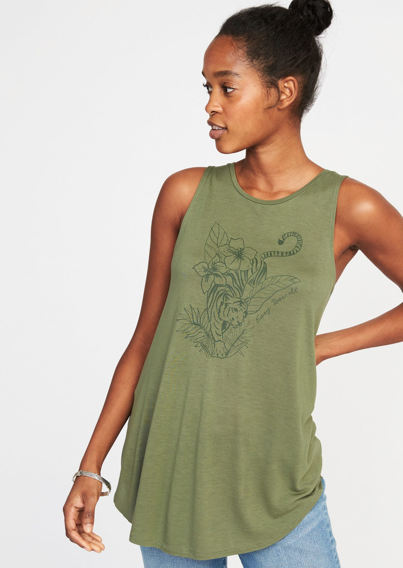 73716a242c7a76 Old Navy Graphic High-Neck Swing Tank for Women