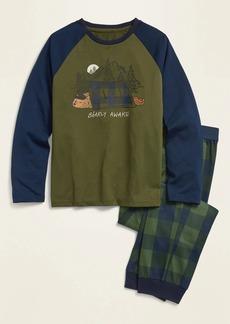 Old Navy Graphic Raglan Shirt and Jogger Pants Pajama Set for Boys