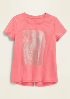Old Navy Graphic Short-Sleeve Split-Back Tee for Girls