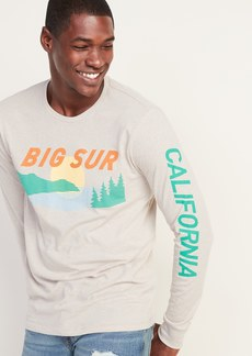 Old Navy Graphic Soft-Washed Long-Sleeve Tee for Men