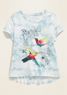 Old Navy Graphic Tie-Dye Split-Back Tee for Girls