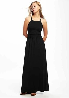 High-Neck Maxi Dress for Women