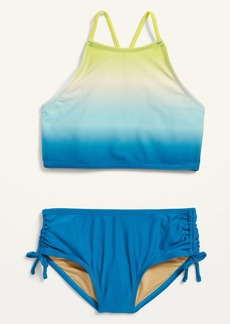 Old Navy High-Neck Ruched Tankini Swim Set for Girls
