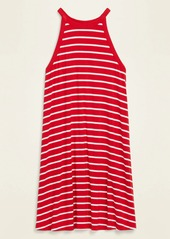 Old Navy High-Neck Striped Sleeveless Jersey-Knit Swing Dress for Women