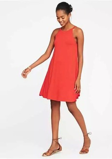 High-Neck Swing Dress for Women