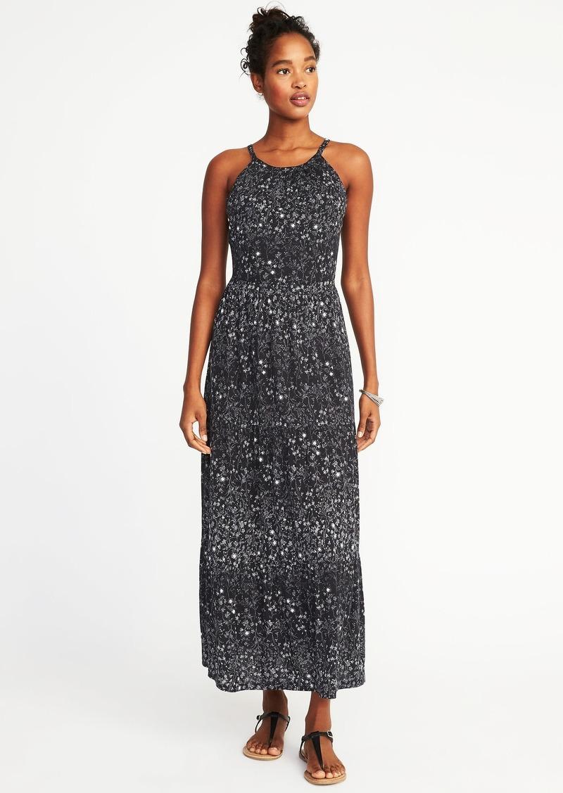 b7fc0d3e488 Old Navy High-Neck Waist-Defined Maxi Dress for Women