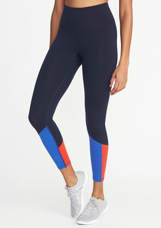 Old Navy High-Rise 7/8-Length Color-Block Compression Leggings for Women