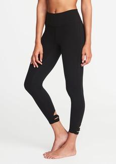 Old Navy High-Rise 7/8-Length Knotted-Hem Yoga Leggings for Women