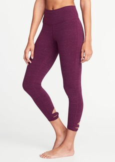 Old Navy High-Rise 7/8-Length Knotted-Hem Yoga Leggings for Women
