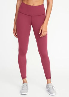Old Navy High-Rise 7/8-Length Laser-Cut Compression Leggings for Women