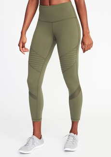 Old Navy High-Rise 7/8-Length Moto Compression Leggings for Women