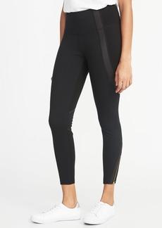 Old Navy High-Rise 7/8-Length Ponte-Knit Ankle-Zip Street Leggings for Women