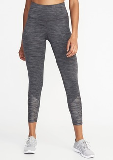Old Navy High-Rise 7/8-Length Textured-Jacquard Leggings for Women