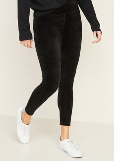 Old Navy High-Rise 7/8-Length Velvet Leggings for Women