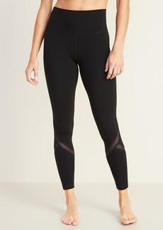 Old Navy High-Waisted Balance Mesh-Splice 7/8-Length Leggings For Women