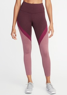 Old Navy High-Rise Color-Blocked 7/8-Length Compression Leggings for Women