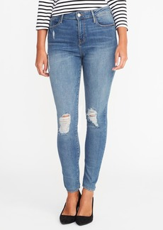 High-Rise Distressed Rockstar Jeans for Women
