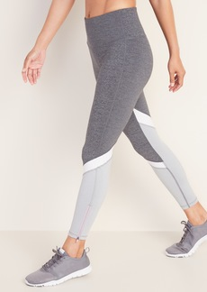 Old Navy High-Waisted Elevate Color-Block 7/8-Length Compression Leggings For Women