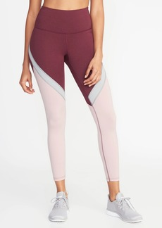 732dee5e56bc Old Navy High-Rise Elevate Color-Blocked 7/8-Length Compression Leggings