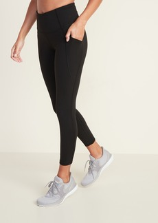 Old Navy High-Waisted Elevate Side-Pocket 7/8-Length Compression Leggings For Women