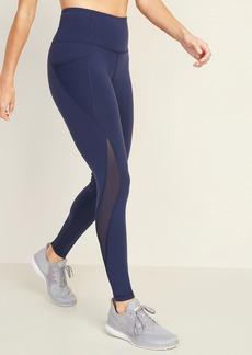 Old Navy High-Waisted Elevate Side-Pocket Mesh-Trim Compression Leggings For Women