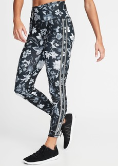 Old Navy High-Rise Floral-Print 7/8-Length Compression Leggings for Women