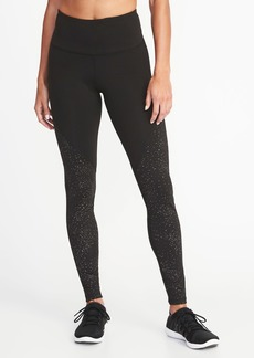 Old Navy High-Rise Foil-Print Compression Leggings for Women