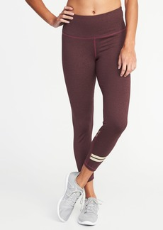 Old Navy High-Rise Foil-Stripe Compression 7/8-Length Leggings for Women