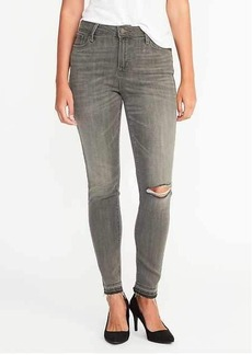High-Rise Gray Rockstar Ankle Jeans for Women
