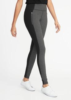 Old Navy High-Rise Herringbone/Ponte Zip-Pocket Street Leggings for Women