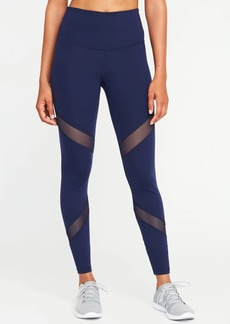 Old Navy High-Rise Mesh-Panel Leggings for Women