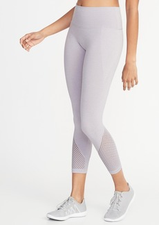 Old Navy High-Rise Mesh-Trim 7/8-Length Performance Leggings for Women