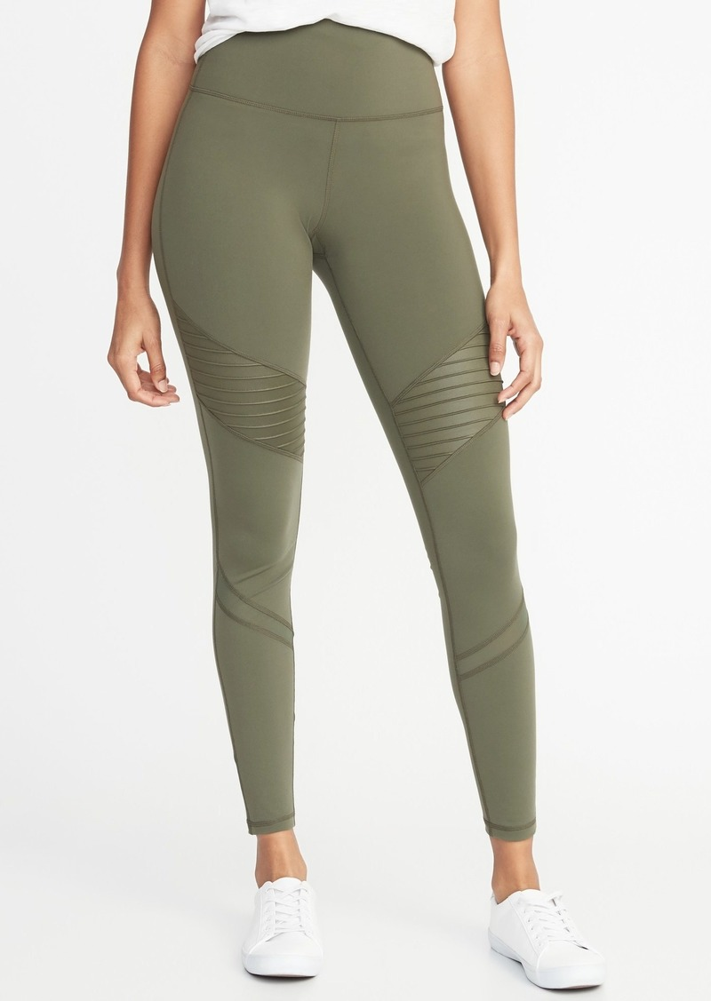 6f79ab61a3 Old Navy High-Rise Moto Compression 7/8-Length Street Leggings for Women