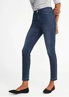 High-Rise Raw-Edge Rockstar Jeans for Women