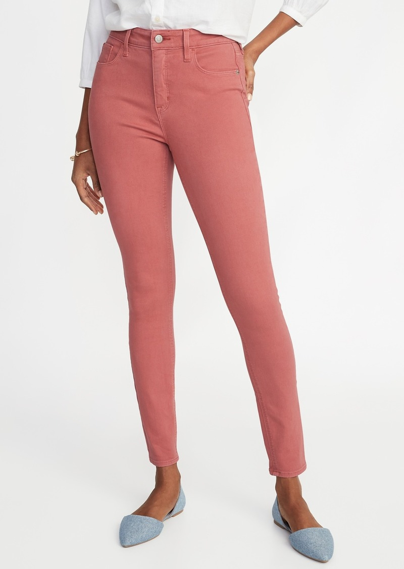 658659c399c Old Navy High-Rise Secret-Slim Pockets Pop-Color Rockstar Super Skinny Jeans