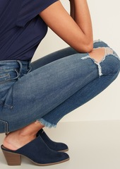 87cd5e7544d ... Old Navy High-Rise Secret-Slim Pockets Raw-Edge Rockstar Ankle Jeans for