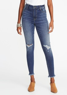 Old Navy High-Rise Secret-Slim Pockets Raw-Edge Rockstar Ankle Jeans for Women