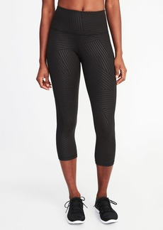 Old Navy High-Rise Side-Mesh Compression Crops for Women