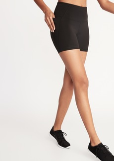 Old Navy High-Waisted Side-Pocket Elevate Compression Shorts For Women - 5-Inch Inseam