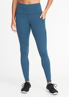 Old Navy High-Rise Side-Pocket Mesh-Trim Leggings for Women