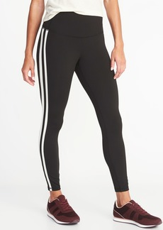 Old Navy High-Waisted Elevate Side-Stripe 7/8-Length Compression Leggings For Women