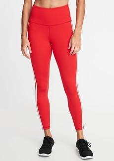 Old Navy High-Rise Side-Stripe 7/8-Length Compression Leggings for Women