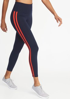 Old Navy High-Rise Side-Stripe 7/8-Length Compression Leggings for Women