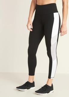 Old Navy High-Waisted Side-Stripe Pocket Elevate 7/8-Length Leggings For Women