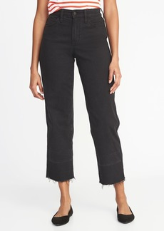 Old Navy High-Rise Wide-Leg Released-Hem Jeans for Women
