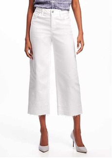 Old Navy High-Rise Wide-Leg White Ankle Jeans for Women