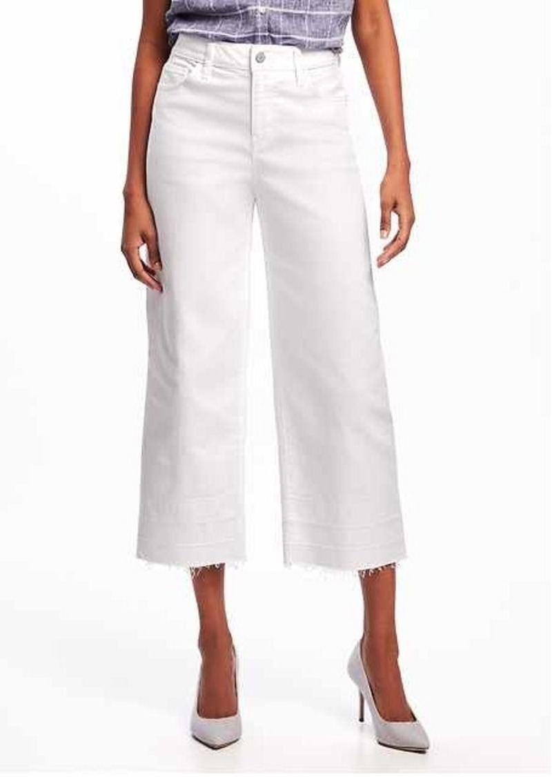fc899238640f Old Navy High-Rise Wide-Leg White Ankle Jeans for Women