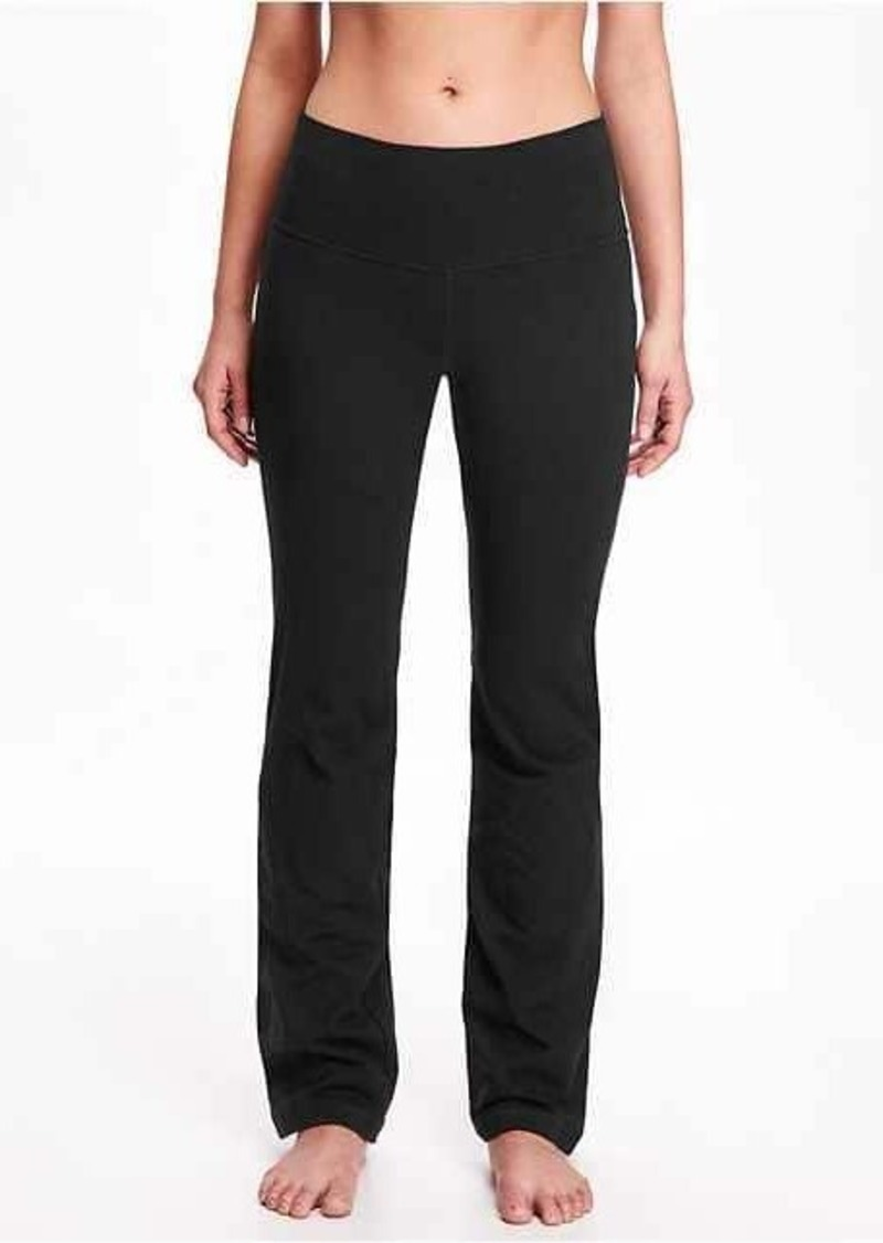 Navy Dress Pant Yoga Pants are ultra-comfy boot-cut yoga pants that are also appropriate for the office, power lunches, vinyasa flows and everything in between.